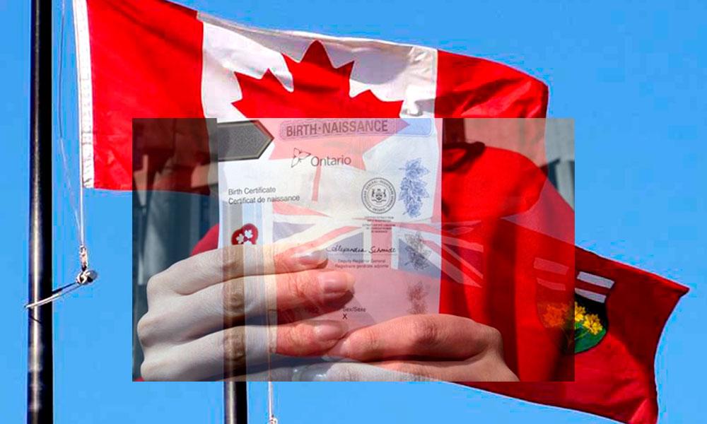 Canadá: se emiten primeros Certificados de Nacimiento que omiten ...